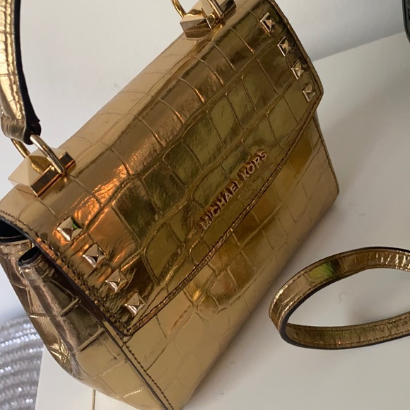 Michael kors karla gold satchel
